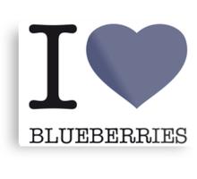 I ♥ BLUEBERRIES Metal Print