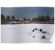 Fluffy Snowdrifts and Ominous,Threatening Skies  Poster