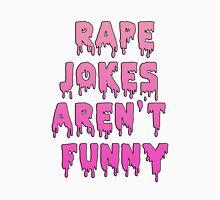 Rape jokes aren't funny Womens Fitted T-Shirt