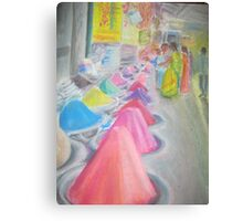 Indian market stall Canvas Print