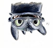 Toothless Upside Down by lukefielding