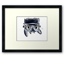 Toothless Upside Down Framed Print