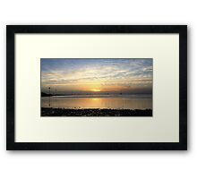 Seaside sun rise Framed Print