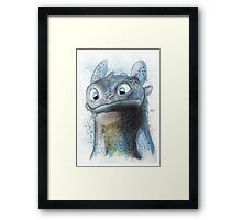 Garish Toothless Framed Print