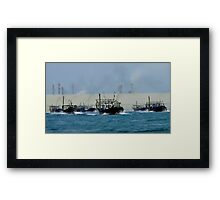 Fishing Fleet - Bahrain Framed Print