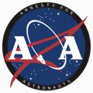Amnesty For Astronauts Circle Logo (Black) by Christian Byerly