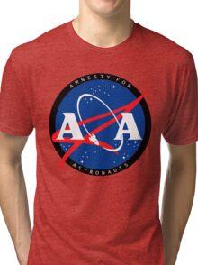 Amnesty For Astronauts Circle Logo (Black) Tri-blend T-Shirt