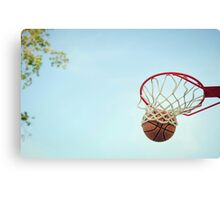 Basketball Shot Canvas Print