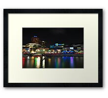 Buzzing Clark Quay in the night Framed Print