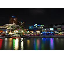 Buzzing Clark Quay in the night Photographic Print