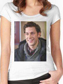 Cute John Krasinski   Women's Fitted Scoop T-Shirt