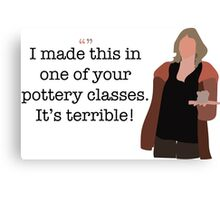 Pottery Class Lady Parks and Recreation Canvas Print