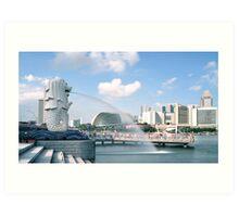 Singapore Merlion Park Art Print