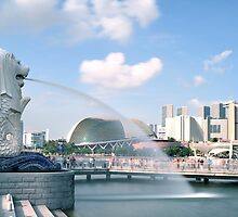 Singapore Merlion Park by HuyLuu