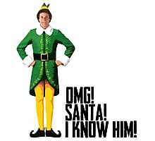 Elf - Will Ferrell | Buddy - Christmas Quote - Funny Photographic Print