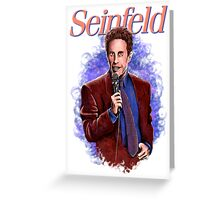 Jerry Seinfeld - TV Comedy Legend Greeting Card