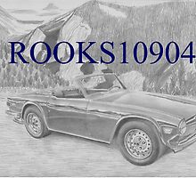 Triumph TR-6 SPORTS CAR ART PRINT by rooks10904