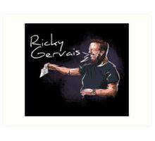 Ricky Gervais - Comic Timing Art Print