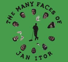The many faces of Jan Itor Kids Tee