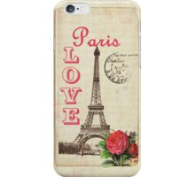 Love Paris with Red Rose Phone Cover iPhone Case/Skin