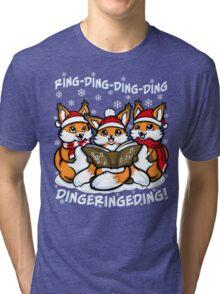 """What does the Fox Sing"" (T-shirts) Tri-blend T-Shirt"