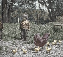 The Twins and Their Chickens by OtherRealisms