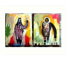 HERMANOS 1&2  (brothers 1&2) Art Print