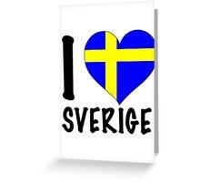 i love sweden Greeting Card