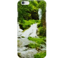 Summer Waterfall Abstract Impressionism iPhone Case/Skin