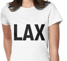 LAX Los Angeles International Airport Black Ink Womens Fitted T-Shirt