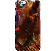 Rodeo Horse Abstract Impressionism iPhone Case/Skin