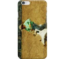 Rodeo Calf Roped Abstract Impressionism iPhone Case/Skin