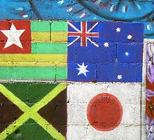 Street Art Series h  World Flags by WhimsyvilleUSA