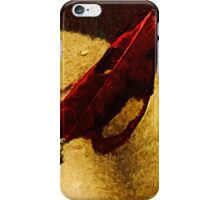 Red Leaf on Beach Abstract Impressionist iPhone Case/Skin