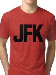 JFK John F Kennedy International Airport Black Ink Tri-blend T-Shirt
