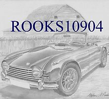 Triumph TR-5 SPORTS CAR ART PRINT by rooks10904