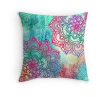 Round and Round the Rainbow Throw Pillow