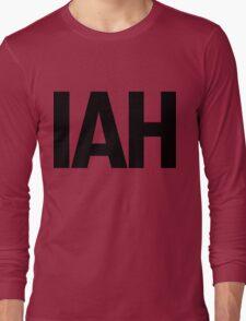 IAH Houston International Airport Black Ink Long Sleeve T-Shirt