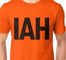 IAH Houston International Airport Black Ink Unisex T-Shirt