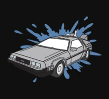 Delorean Car With Water Splash One Piece - Long Sleeve
