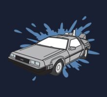 Delorean Car With Water Splash One Piece - Short Sleeve