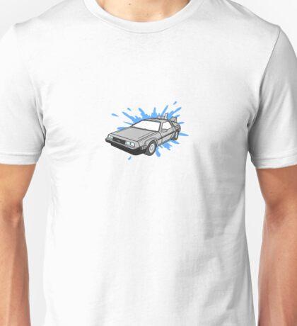 Delorean Car With Water Splash Unisex T-Shirt