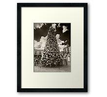 ©MS The Christmas Tree In Tlalpujahua IA Monochromatic Framed Print