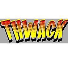 Thwack! Comic Book Sound Effect Photographic Print