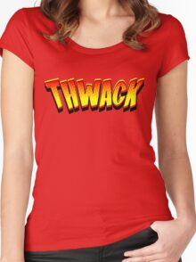 Thwack! Comic Book Sound Effect Women's Fitted Scoop T-Shirt