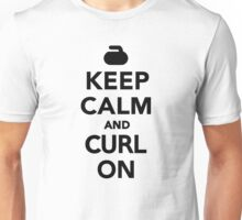 Keep calm and curl on Unisex T-Shirt