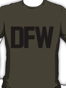 DFW Dallas Fort Worth International Airport Black Ink T-Shirt