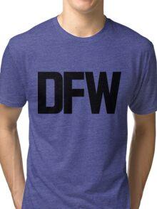 DFW Dallas Fort Worth International Airport Black Ink Tri-blend T-Shirt