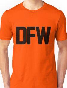 DFW Dallas Fort Worth International Airport Black Ink Unisex T-Shirt
