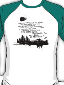 """Way Down In The Hole"" - The Wire - Dark T-Shirt"